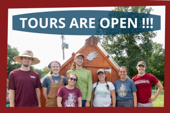 Tours are Open! with Picture of Farming Students